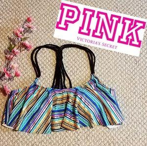 2 /$20 NWOT VS PINK  ruffle bikini SWIM TOP